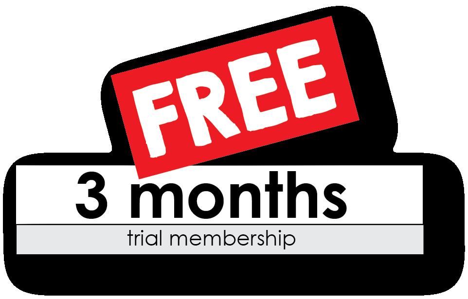 3 months free trial membership