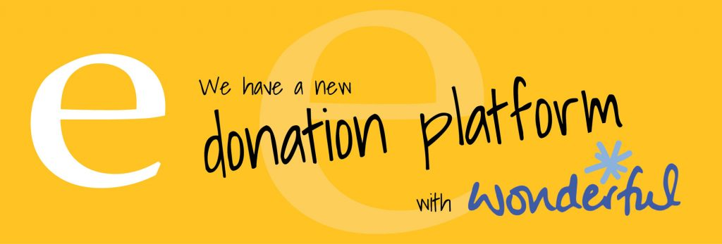 We have a new donation platform - Wonderful