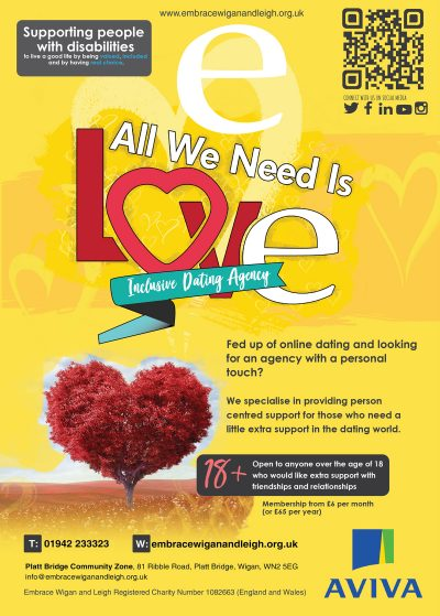 This image shows our all we need is love poster