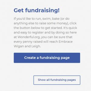 Get fundraising message